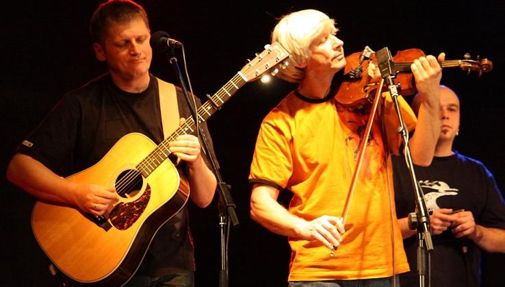 Wojciech Czemplik (skrzypce) podczas jednego zostatnich koncertów SDM